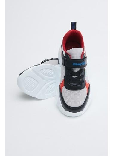 Tonny Black Siyah Kırmızı Çocuk Spor Ayakkabı Tb0015 Siyah